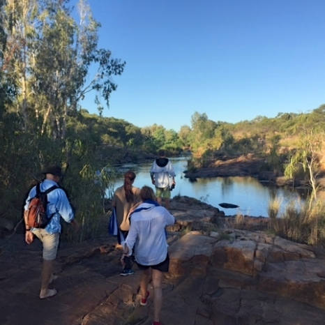 walking along kimberley river