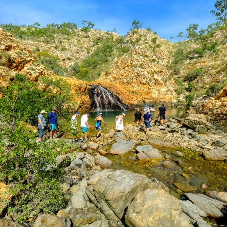 kimberley waterfall bush walking